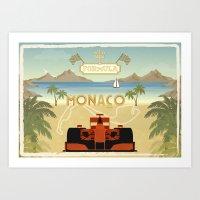 formula 1 Art Prints featuring Formula 1 in Monaco by Daniella Gallistl