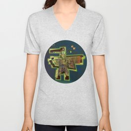 Good Vibes from the Robotic City Lab Unisex V-Neck