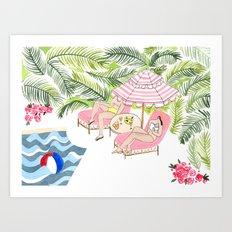 Poolside!  Art Print