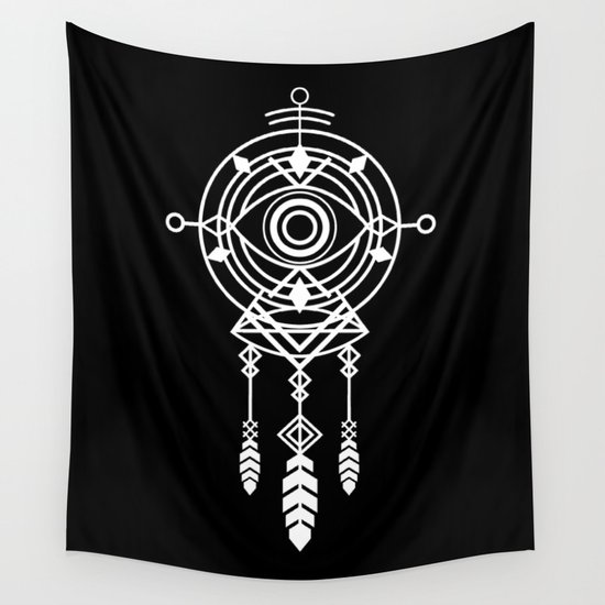 Cosmic Dreamcatcher Wall Tapestry