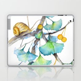 Ginkgo and A Snail Laptop & iPad Skin