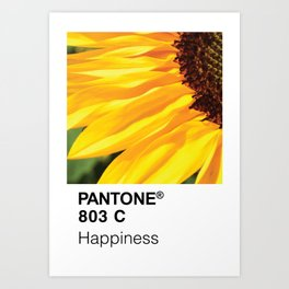Color Swatch - Happiness Art Print