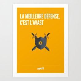 Le meilleure défense c'est l'Avast (Geekton) Art Print