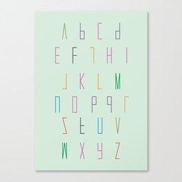 Alphabet for children Canvas Print