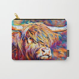 Highland Cow 6 Carry-All Pouch