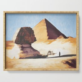The Great Sphinx And Pyramid Serving Tray