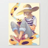 viria Canvas Prints featuring kenma by viria