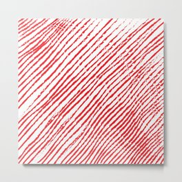 Candy Cane (The raw version) - Christmas Illustration Metal Print