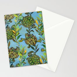 Slider Turtle Pattern by Robert Phelps Stationery Cards