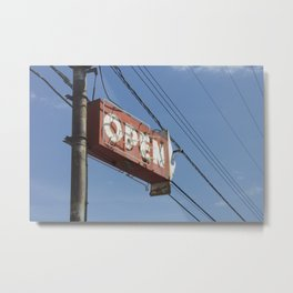 Open sign Metal Print