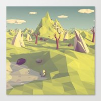 polygon Canvas Prints featuring Polygon Landscape by Tom Lee