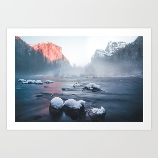 Valley View - Yosemite National Park, California Art Print