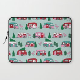 Camper vacation christmas road trip tropical home away from home pattern Laptop Sleeve