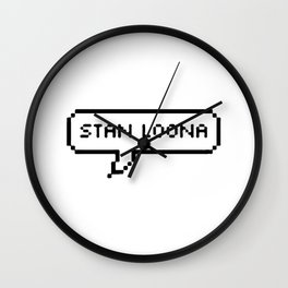 Stan Loona White Wall Clock