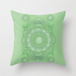 mandala Chakra Anahata Throw Pillow