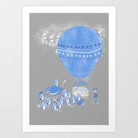 baloon Art Prints featuring Baloon rides by Randyotter