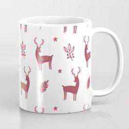 Christmas Red Reindeers Coffee Mug