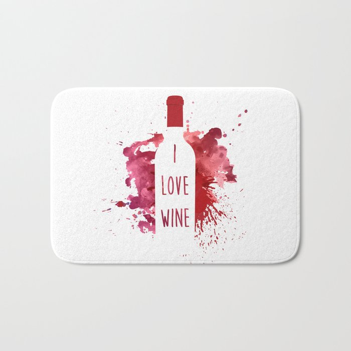 wine bottle Bath Mat