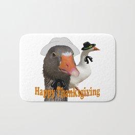 Happy Thanksgiving Pilgrims Bath Mat