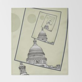 Political Spin Throw Blanket