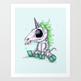 Skelecorn Art Print
