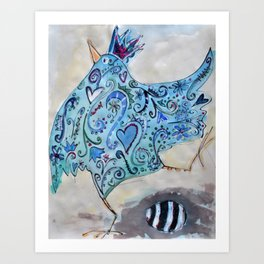 happy bird Art Print