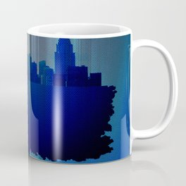 Point of view on the city blue Coffee Mug