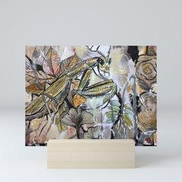Peace, mantis Mini Art Print