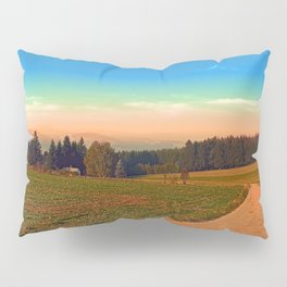 Hiking into the sunset | landscape photography Pillow Sham