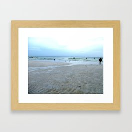 Everyone's At The Beach Framed Art Print