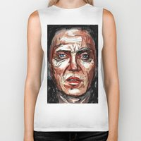 christopher walken Biker Tanks featuring Walken by Dnzsea