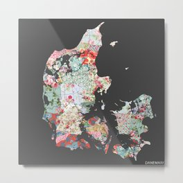 Danemark map #2 Metal Print