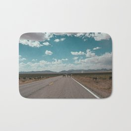 cows on the open road Bath Mat