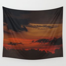 A Sky On Fire - 2 Wall Tapestry