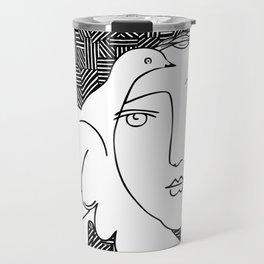 Picasso - Woman and dove Travel Mug
