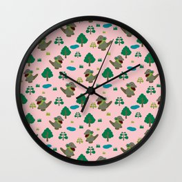 Moccomerian pattern Wall Clock