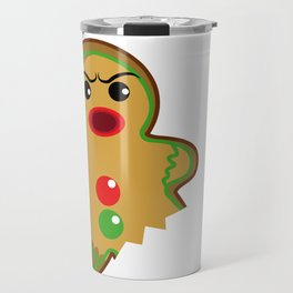 Gingerbread Christmas Fight Boxing Funny Gift Travel Mug
