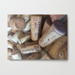 Wine Cork Metal Print