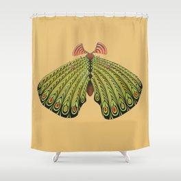 green moth (ORIGINAL SOLD). Shower Curtain
