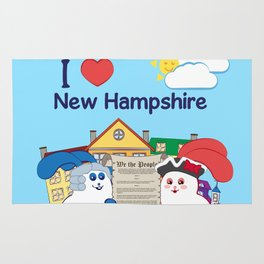 Ernest and Coraline | I love New Hampshire Rug