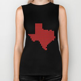 Texas in Dots Biker Tank