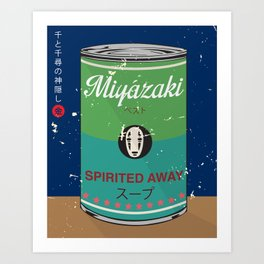 Spirited Away - Miyazaki - Special Soup Series  Art Print