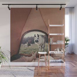 ALPACA  - CAMPING WITH FRIENDS Wall Mural