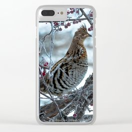 Ruffed Grouse Clear iPhone Case