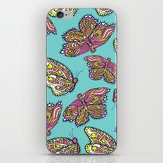 heart and butterflies iPhone & iPod Skin
