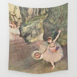 Dancer with a Bouquet of Flowers (Star of the Ballet) Wall Tapestry