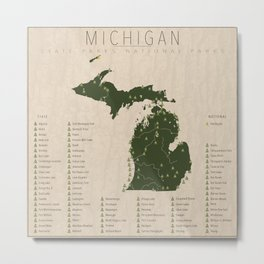 Michigan Parks Metal Print