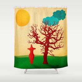 Cucuteni Fertility Godess Shower Curtain