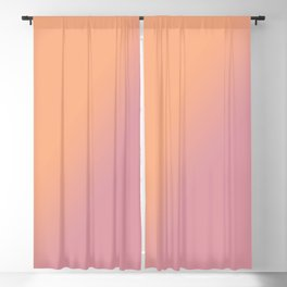 Coral, pink Ombre Blackout Curtain