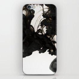 Black ink in water iPhone Skin